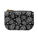 Sugar Skulls - Black and White Coin Change Purse