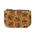 Sparrow and Star Tattoo Pattern Coin Change Purse