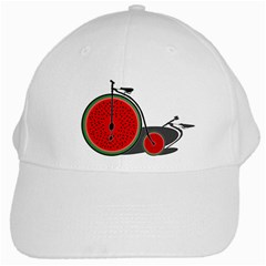 Watermelon Bicycle  White Cap by Valentinaart
