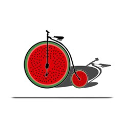 Watermelon Bicycle  Plate Mats by Valentinaart
