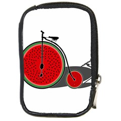 Watermelon Bicycle  Compact Camera Cases by Valentinaart