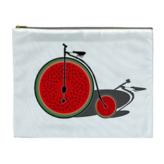 Watermelon Bicycle  Cosmetic Bag (xl) by Valentinaart
