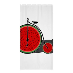 Watermelon Bicycle  Shower Curtain 36  X 72  (stall)  by Valentinaart