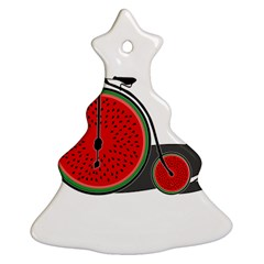 Watermelon Bicycle  Ornament (christmas Tree)  by Valentinaart