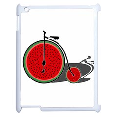 Watermelon Bicycle  Apple Ipad 2 Case (white) by Valentinaart