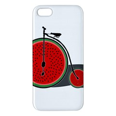 Watermelon Bicycle  Iphone 5s/ Se Premium Hardshell Case by Valentinaart
