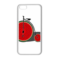 Watermelon Bicycle  Apple Iphone 5c Seamless Case (white) by Valentinaart