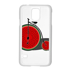 Watermelon Bicycle  Samsung Galaxy S5 Case (white) by Valentinaart
