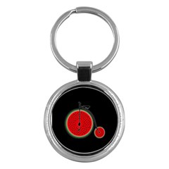 Watermelon Bicycle  Key Chains (round)  by Valentinaart