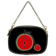Watermelon Bicycle  Chain Purses (one Side)  by Valentinaart