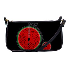 Watermelon Bicycle  Shoulder Clutch Bags by Valentinaart
