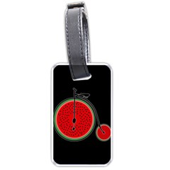 Watermelon Bicycle  Luggage Tags (one Side)  by Valentinaart
