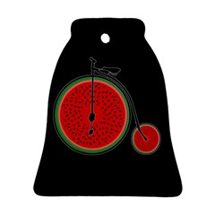 Watermelon Bicycle  Bell Ornament (two Sides) by Valentinaart
