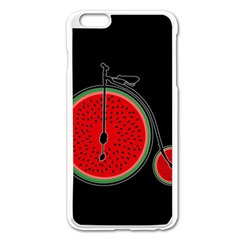 Watermelon Bicycle  Apple Iphone 6 Plus/6s Plus Enamel White Case by Valentinaart