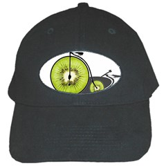 Kiwi Bicycle  Black Cap by Valentinaart