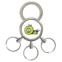 Kiwi Bicycle  3 Ring Key Chains by Valentinaart