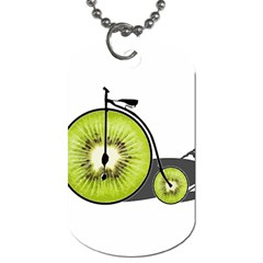 Kiwi Bicycle  Dog Tag (two Sides) by Valentinaart
