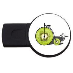 Kiwi Bicycle  Usb Flash Drive Round (2 Gb) by Valentinaart