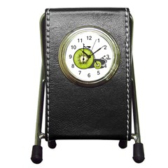 Kiwi Bicycle  Pen Holder Desk Clocks by Valentinaart