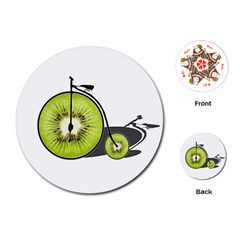 Kiwi Bicycle  Playing Cards (round)  by Valentinaart