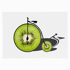 Kiwi Bicycle  Large Glasses Cloth (2 Side) by Valentinaart