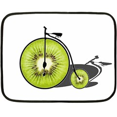 Kiwi Bicycle  Fleece Blanket (mini) by Valentinaart
