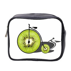 Kiwi Bicycle  Mini Toiletries Bag 2 Side by Valentinaart