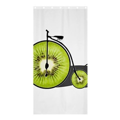 Kiwi Bicycle  Shower Curtain 36  X 72  (stall)  by Valentinaart
