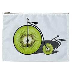 Kiwi Bicycle  Cosmetic Bag (xxl)  by Valentinaart