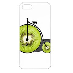 Kiwi Bicycle  Apple Iphone 5 Seamless Case (white) by Valentinaart