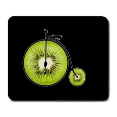 Kiwi Bicycle  Large Mousepads by Valentinaart