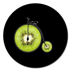 Kiwi Bicycle  Magnet 5  (round) by Valentinaart