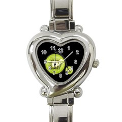 Kiwi Bicycle  Heart Italian Charm Watch by Valentinaart
