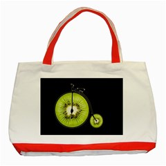 Kiwi Bicycle  Classic Tote Bag (red) by Valentinaart