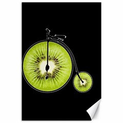 Kiwi Bicycle  Canvas 24  X 36  by Valentinaart