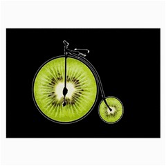 Kiwi Bicycle  Large Glasses Cloth by Valentinaart