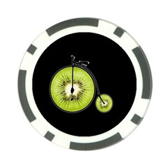 Kiwi Bicycle  Poker Chip Card Guard (10 Pack) by Valentinaart