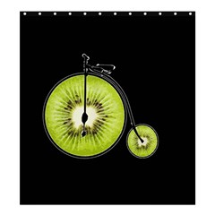 Kiwi Bicycle  Shower Curtain 66  X 72  (large)  by Valentinaart