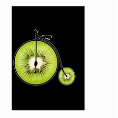 Kiwi Bicycle  Large Garden Flag (two Sides) by Valentinaart