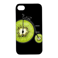 Kiwi Bicycle  Apple Iphone 4/4s Hardshell Case With Stand by Valentinaart