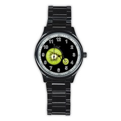Kiwi Bicycle  Stainless Steel Round Watch by Valentinaart
