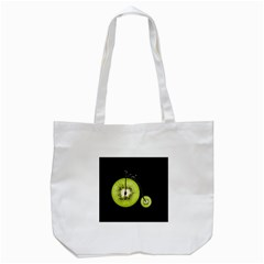 Kiwi Bicycle  Tote Bag (white) by Valentinaart