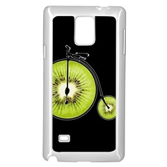 Kiwi Bicycle  Samsung Galaxy Note 4 Case (white) by Valentinaart