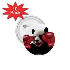 Boxing Panda  1 75  Buttons (10 Pack) by Valentinaart