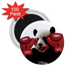 Boxing Panda  2 25  Magnets (100 Pack)  by Valentinaart