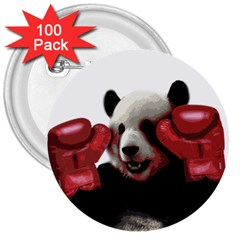 Boxing Panda  3  Buttons (100 Pack)  by Valentinaart