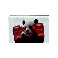 Boxing Panda  Cosmetic Bag (medium)  by Valentinaart