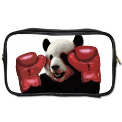 Boxing Panda  Toiletries Bags 2 Side by Valentinaart