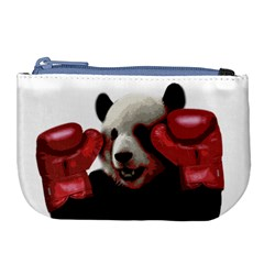 Boxing Panda  Large Coin Purse by Valentinaart