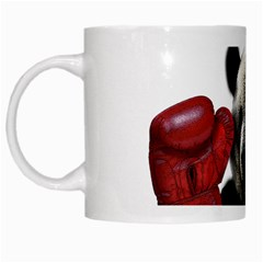 Boxing Panda  White Mugs by Valentinaart